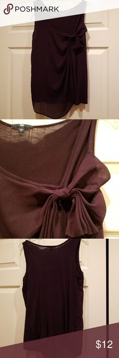 Gap Sleeveless Tank Sz Small Purple sleeveless top with chiffon overlay. Size small. Excellent condition from a clean smoke free home. GAP Tops