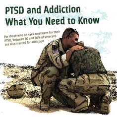 Post Traumatic Stress Disorder (PTSD) and Addiction – What You Need to Know - For those who do seek treatment for their #PTSD, between 60 and 80% of veterans are also treated for addiction http://www.rehabcenter.net/post-traumatic-stress-disorder-ptsd-and-addiction-what-you-need-to-know/
