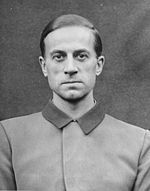 Karl Brandt was a German Nazi war criminal. He rose to the rank of SS-Gruppenführer in the Allgemeine-SS and SS-Brigadeführer in the Waffen-SS. Among other positions, Brandt headed the administration of the Nazi euthanasia program from 1939 onwards and was selected as Adolf Hitler's personal physician in August 1934. In 1942, he became Reich Commissioner for Health and Sanitation. He was involved in criminal human experimentation, along with his deputy Werner Heyde and others.