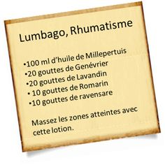 rhumatisme et lumbago avec le genévrier