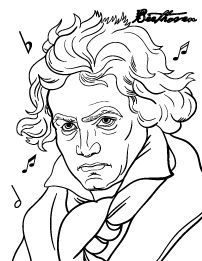 Free Beethoven Coloring Page Free Coloring Pages, Coloring Books, Music Clipart, Music Crafts, Music Composers, Music Activities, Elementary Music, Music Education, Art Music