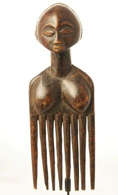 Africa | Comb from the Luba people of DR Congo | Wood