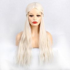 #RoseWholesale - #Rosewholesale Long Middle Part Braided Natural Wavy Synthetic Wig - AdoreWe.com