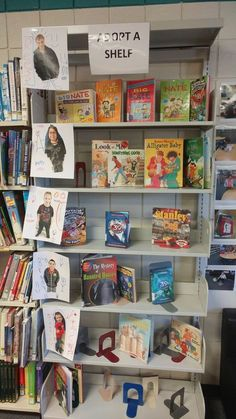 Adopt a Shelf School Library Displays, Middle School Libraries, Elementary School Library, Library Themes, Library Events, Class Library, Reading Library, Library Activities, Library Lessons