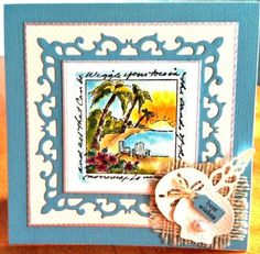 Beach Window & words Sells for 9.73. Sold separately are the other items in the examples. Made by:Art Imprssions rubber stamps You can purchase these from my ebay store: Pat's Rubber Stamps & Scrapbooks, Click on the picture & see the listing , or call me 423-357-4334 with order, We take PayPal. You get FREE SHIPPING ON PHONE ORDERS of $30.00 or more. If it says sold I have more. Use my search engine to find the items you are interested in my store.