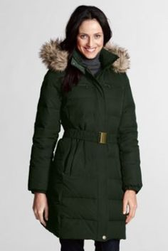 Women's Modern Down Coat from Lands' End