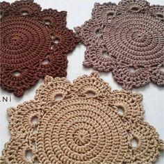 Love Crochet, Crochet Motif, Crochet Lace, Crochet Placemats, Crochet Dishcloths, Doily Patterns, Knitting Patterns, Crochet Patterns, Crochet Dollies
