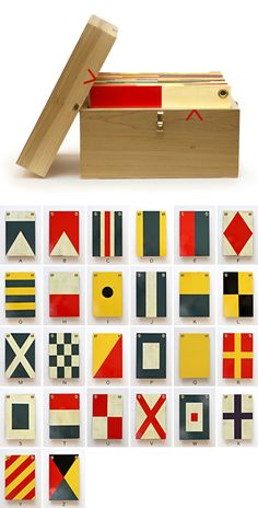 wooden nautical flags by Best Made Co. Nautical Flags, Nautical Theme, Mint Furniture, Flag Signs, Passion Project, Print Packaging, Limo, Decorating Blogs, Handmade Wooden