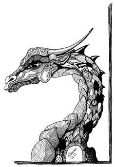 Zentangle Horses | Zentangle Wolf by Lupine Moon Feather