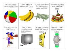 """Ch"" in Sentences Flash Cards: Ms. Lane's SLP Materials: Articulation"