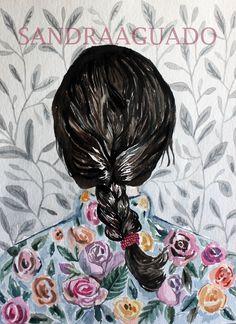 Love Pattern. Watercolour by Sandra Aguado