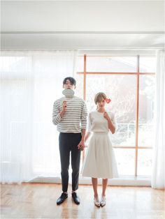 Simple Boat Tee | Korean Couple Fashion