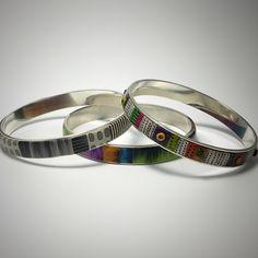 Trio of bracelets by Libby Mills, 2015 Polymer clay