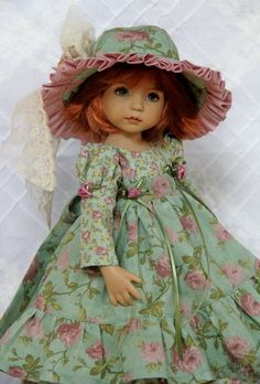 "Autumn Garden ~ OOAK Outfit for Effner 13"" Little Darling ~ by Glorias Garden"