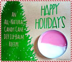 An all-natural candy cane lip bam recipe that is both beautiful and delicious. Makes a sweet stockings stuffer gift.