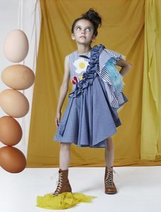 The perfect dress for Pancake Day by Raspberry Plum! More Dada styles and the ultimate pancake cookbook in MILAN Magazine . (Collage by MILAN Magazine) Kids Winter Fashion, Kids Fashion, Little Girl Dresses, Girls Dresses, Stylish Tops For Women, African Dresses For Kids, Baby Dress Design, Kids Gown, Sewing Kids Clothes