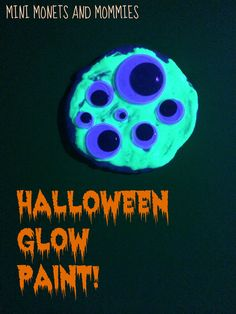 Halloween glow in the dark paint projects for kids!