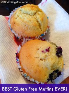 Best gluten free blueberry muffins recipe! #glutenfree #recipe