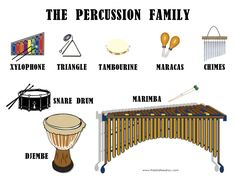 Learn English Vocabulary through Pictures: Musical Instruments - ESLBuzz Learning English Drum Lessons, Music Lessons, Montessori, Music Worksheets, Music And Movement, Music Composers, Music For Kids, Elementary Music, Music Classroom