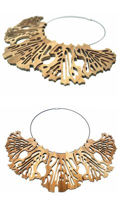 Leaf Collection, Bamboo Necklace Bamboo, Crown, Studio, Collection, Jewelry, Design, Fashion, Moda, Corona