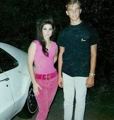 Priscilla Presley and her brother Young Priscilla Presley, Elvis And Priscilla, Lisa Marie Presley, Elvis Presley, Bouffant Hair, American Legend, Feminine Mystique, Famous Couples, Most Beautiful Women