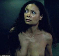 Thandie Newton goes stark naked for her role as robot sex-worker in Westworld | Daily Mail Online