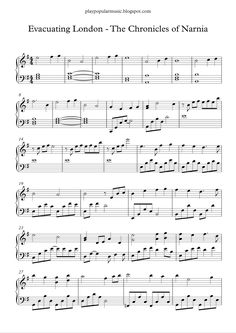 Free piano sheet music: Evacuating London - The Chronicles Of Narnia.pdf             Wikia: Evacuating London was the second track on Th...