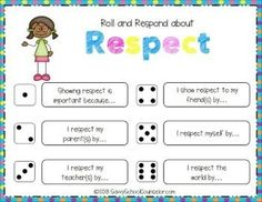 *FREE* Roll and Respond Activity.  This product comes with one Roll and Respond about Respect card and a die. The Variety Pack, sold separately, includes an additional 12 Roll and Respond cards to use in your small groups or classroom lessons.