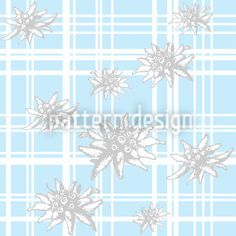 Edelweiss designed by Dorothee Schaller available on patterndesigns.com Vector Pattern, Pattern Design, Swiss Design, Blue Backgrounds, Patterns, Block Prints, Pattern, Models, Templates