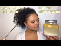 The Ultimate Rice Water Hair Growth Strategy For Longer Hair! - The Blessed Queens - Learn how to use these Rice Water Growth techniques to grow your natural hair and pass your hair limits. Fermented Rice Water works great if you… - Pelo Natural, Natural Curls, Natural Hair Care, Natural Hair Styles, Natural Beauty, Natural Hair Growth Tips, How To Grow Natural Hair, Leave In, Relaxed Hair