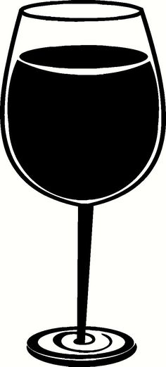 Wine Glass Stickers | Wine Glass Vinyl Decal | Kitchen Vinyl Decals