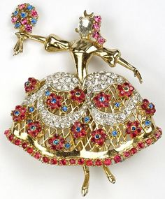 Corocraft 'Jewels of Fantasy' 'Maria Camargo' Ballerina Pin