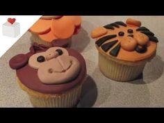 ▶ Cómo hacer Cupcakes Animales de la Selva (león, mono y tigre ) | Cupcakes por Azúcar con Amor - YouTube
