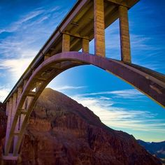 The Hoover Dam Bypass Bridge is the longest single arch bridge in North America. Photo courtesy of jerricatan on Instagram