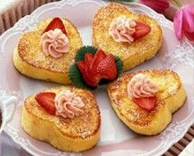 French Toast with Strawberry Butter recipe--yummy! #laylagrayce #holidays #valentinesday