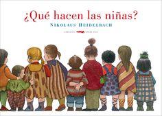 En «¿Qué hacen las niñas?», de Nikolaus Heidelbach en Libros Zorro Rojo, se respira a Gorey. Humor e imaginación que huyen de lo políticamente correcto mediante imágenes inquietantes. http://www.veniracuento.com/