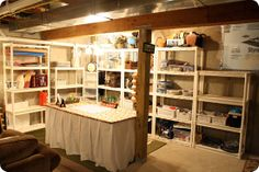 Found out about this blog today...Thrifty Decor Chick!  Love the work she did in her basement.  I have a big mess I need to work on and I like this inspiration.
