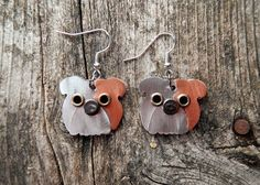 Earrings Jewelry English Bulldog Dog Breed Pet Lover by PoochTags, $15.00