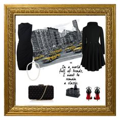 """""""Classic black"""" by christina-mos on Polyvore featuring Avanti, Christian Louboutin, Alexander Wang, Blue Nile and Lipsy"""