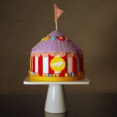 Circus birthday cake! Topr layer of cupcake stand and her smash cake:)