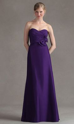 Purple Long Dress For Maid Of Honor Satin Bridesmaid Dresses Cadbury