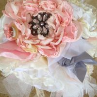 fabric flower bouquet - how to, making own flowers