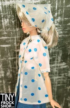 Barbie See Thru Dotted Jacket and Scarf