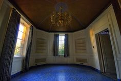 Pretty blue floor in West Mansion...sure that's gone too.