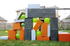 angry birds back yard game