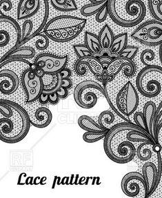 Floral black lace pattern