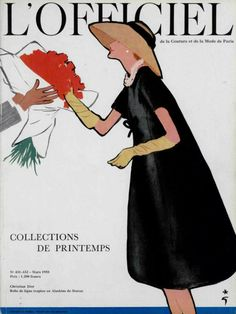 L`Officiel France no.431-432 March 1958  illustrated by Rene Gruau