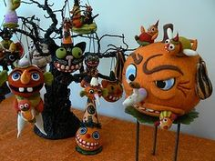Needle Felted Halloween Ornaments