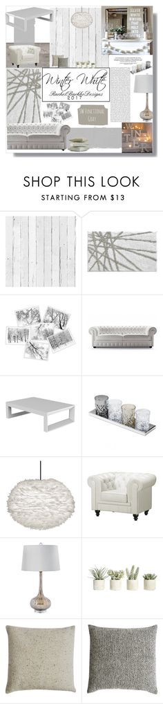 """winter white"" by rachelbarkhodesigns ❤ liked on Polyvore featuring interior, interiors, interior design, home, home decor, interior decorating, NLXL, InterDesign, Will Leather Goods and Oris"