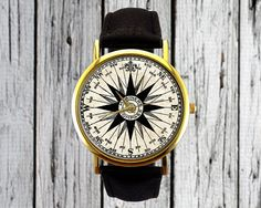 Vintage Compass Illustration Watch Mariners by RedJuanShop
